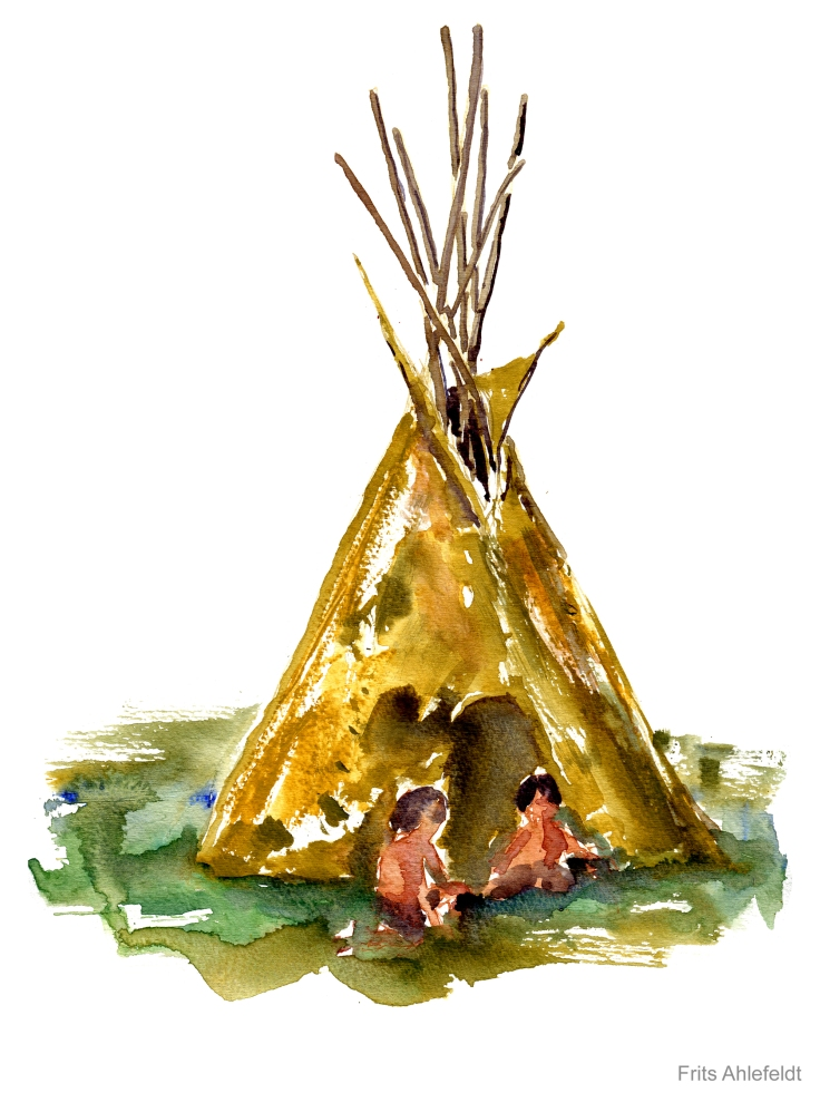 teepee Watercolor by Frits Ahlefeldt